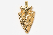 #P702DG - Arrowhead & Buck Head 24K Gold Plated Pendant