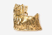 #P850G - Show Clip Yorkie 24K Gold Plated Pendant