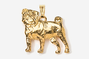 #P861G - Pug 24K Gold Plated Pendant