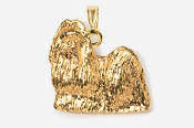 #P862G - Show Clip Shih Tzu 24K Gold Plated Pendant