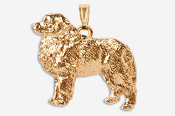 #P872AG - Great Pyrenees 24K Gold Plated Pendant