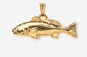 #P227G - Redfish / Red Drum 24K Gold Plated Pendant