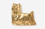 #850G - Show Clip Yorkie 24K Gold Plated Pin