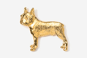 #852G - Boston Terrier 24K Gold Plated Pin