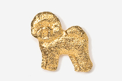 #856G - Bichon Frise 24K Gold Plated Pin