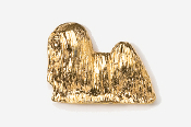 #857G - Lhasa Apso 24K Gold Plated Pin
