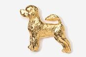 #864G - Portuguese Water Dog 24K Gold Plated Pin
