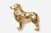 #867G - Australian Shepherd 24K Gold Plated Pin