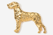 #870CG - Irish Wolfhound 24K Gold Plated Pin