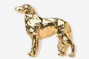 #870G - Borzoi 24K Gold Plated Pin