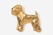 #875G - Wheaten Terrier 24K Gold Plated Pin