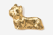 #876G - Skye Terrier 24K Gold Plated Pin