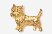 #877G - Cairn Terrier 24K Gold Plated Pin