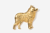 #878G - Schipperke 24K Gold Plated Pin