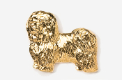 #882G - Havanese 24K Gold Plated Pin
