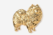 #883G - Keeshond 24K Gold Plated Pin