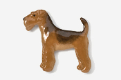 #859P - Airedale Hand Painted Pin