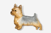 #874P - Silky Terrier Hand Painted Pin