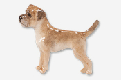 #877BP - Border Terrier Hand Painted Pin