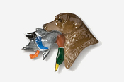 #450CP-C - Labrador Retriever with Duck Hand Painted Pin