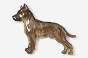 #460AP-BR - Amstaff Terrier Hand Painted Pin