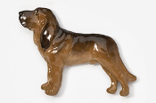 #453CP - Bloodhound Hand Painted Pin