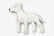 #460CP-W - Bull Terrier Hand Painted Pin