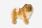 #464P-R - Chow Hand Painted Pin