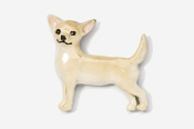#860P-F - Smooth Chihuahua Hand Painted Pin