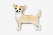 #860P-FW - Smooth Chihuahua Hand Painted Pin