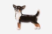 #860P-T - Smooth Chihuahua Hand Painted Pin