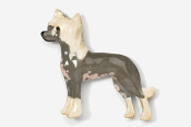 #880P-P - Chinese Crested Hand Painted Pin