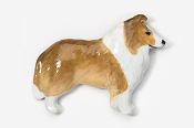 #458CP-S - Collie Hand Painted Pin
