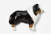 #458CP-T - Collie Hand Painted Pin