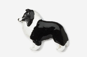 #458P-BW - Sheltie Hand Painted Pin