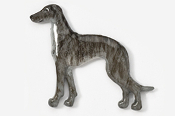 #453AP-BBR - Greyhound Hand Painted Pin