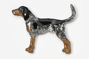 #453BP-BT - Coon Hound Hand Painted Pin