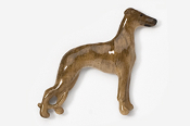 #453DP-BR - Whippet Hand Painted Pin