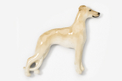 #453DP-F - Whippet Hand Painted Pin