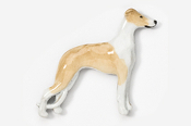 #453DP-FW - Whippet Hand Painted Pin
