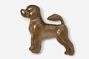 #864P-C - Portuguese Water Dog Hand Painted Pin
