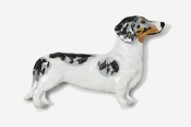 #462P-P - Smooth Dachshund Hand Painted Pin