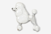 #461AP-W - Show Clip Poodle Hand Painted Pin