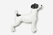 #461CP-BW - Jack Russell Hand Painted Pin