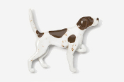 #456P-LW - English Pointer Hand Painted Pin