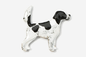 #457EP-BW - English Setter (with tail up) Hand Painted Pin
