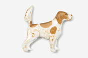 #457EP-OW - English Setter (with tail up) Hand Painted Pin