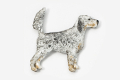 #457EP-TB - English Setter (with tail up) Hand Painted Pin