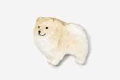 #851P-CR - Pomeranian Hand Painted Pin