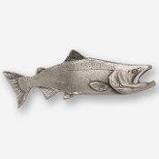 #D12410 - King Salmon (right) Pewter Drawer Pull